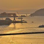 夕焼けの女神大橋