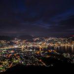 長崎港と長崎市の夜景
