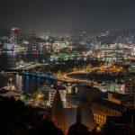 天主堂の入る長崎市の夜景