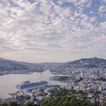 長崎港とうろこ雲