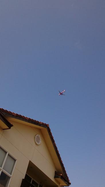 諌早市もしくは大村市で撮影した飛行機。