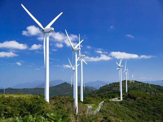 風力発電用風車の写真